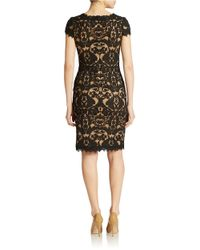 Tadashi Shoji | Black Soutache-embroidered Sheath Dress | Lyst