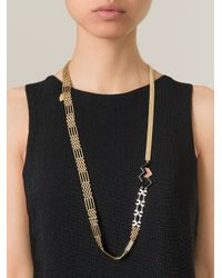 Wouters & Hendrix - Metallic Snake Chain Link Lariat Necklace - Lyst