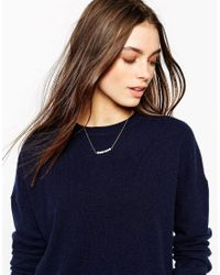 Stella & Bow - Metallic Agnes Pearl Necklace - Lyst
