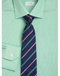 Eton of Sweden - Green Slimfit Micro Houndstooth Dress Shirt for Men - Lyst