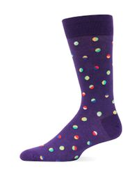 Hot Sox | Purple Confetti-printed Trouser Socks for Men | Lyst