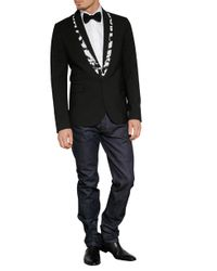 McQ - White Tape Trim Tuxedo Jacket for Men - Lyst