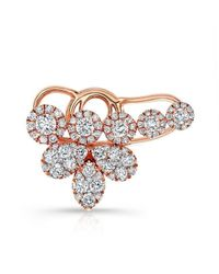 Anne Sisteron | Pink 18kt Rose Gold Diamond Carrie Ear Cuff | Lyst