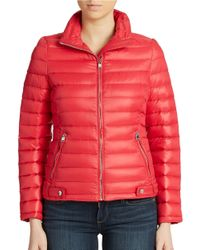 Calvin Klein | Red Packable Down Puffer Jacket | Lyst
