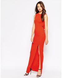 ASOS - Black Tall Sleeveless Cowl Back Maxi Dress - Lyst
