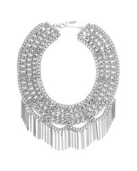 BaubleBar - Metallic 'fringe Court' Bib Necklace - Lyst