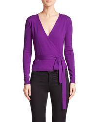 Diane von Furstenberg | Purple Ballerina Wrap Sweater | Lyst