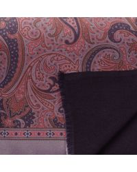 Black.co.uk - Purple Romana Paisley Silk Scarf for Men - Lyst