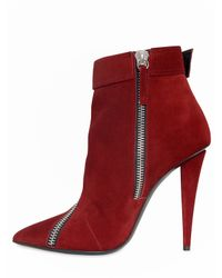 Giuseppe Zanotti   Red 110mm Suede Zipped Boots   Lyst