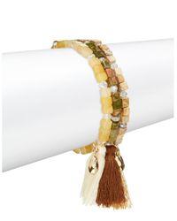 Cara | Multicolor Multi Strand Tassel Bracelet | Lyst