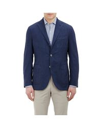 Boglioli - Blue Plaid Sportcoat for Men - Lyst