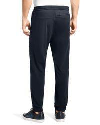 BOSS Green - Blue 'Horjao' | Elastene Blend Jogger Pants for Men - Lyst