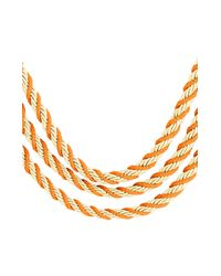 BCBGMAXAZRIA - Orange Twisted Seed Bead Necklace - Lyst