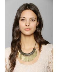 Urban Outfitters - Metallic Raining Petals Statement Necklace - Lyst