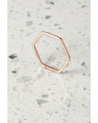Forever 21 - Pink By Boe Hexagon Band Ring - Lyst