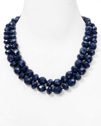 kate spade new york | Blue Give It A Swirl Twisted Necklace, 21"