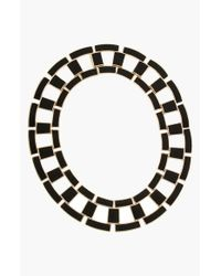 Rachel Zoe | Black 'Eloise' Leather Link Collar Necklace | Lyst