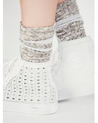 Free People - White Converse Womens Elevated Woven Chucks - Lyst