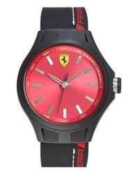 Scuderia Ferrari - Black 'pit Crew' Silicone Strap Watch for Men - Lyst