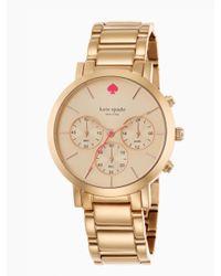 kate spade new york | Pink Gramercy Grand Chronograph | Lyst