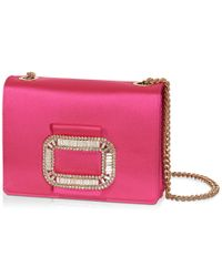Roger Vivier | Pink Evening Micro Bag In Silk Satin | Lyst