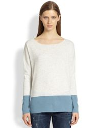 Vince | Natural Cashmere Colorblock Sweater | Lyst