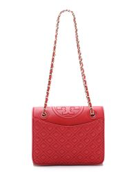 Tory Burch | Red Fleming Medium Shoulder Bag | Lyst