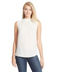 NYDJ | White Mock Neck Shell | Lyst