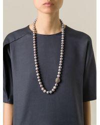 Loree Rodkin | Metallic Gold And Diamond Lariat Necklace | Lyst