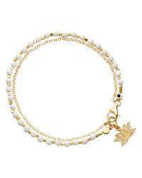 Astley Clarke | Metallic Biography Lotus 18Ct Gold Vermeil Agate Friendship Bracelet | Lyst