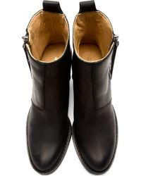 Acne Studios - Black Matte Leather Pistol Boots - Lyst