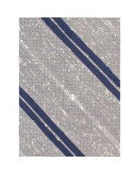 Billy Reid - Gray Slubby Stripe Tie for Men - Lyst