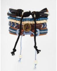 ASOS - Brown Leather Bracelet Pack for Men - Lyst