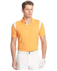Izod | Yellow Day Mesh Pieced Performance Golf Polo for Men | Lyst