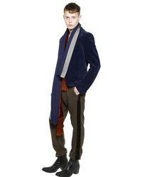 Haider Ackermann - Brown Cotton Jersey Pants With Velvet Sideband for Men - Lyst