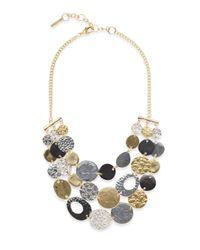 Saks Fifth Avenue - Metallic Mixed-finish Coin Bib Necklace - Lyst