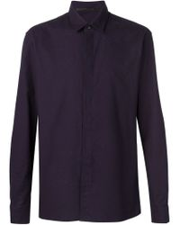 Haider Ackermann - Blue Concealed Fastening Shirt for Men - Lyst