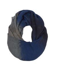 Nine West | Blue Free Spirit Pleat Loop Scarf | Lyst