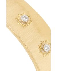 Buccellati - Metallic 18k Yellow Gold And Diamond Macri Cuff - Lyst