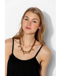 Luv Aj | Metallic Shark Tooth Charm Bib Necklace | Lyst