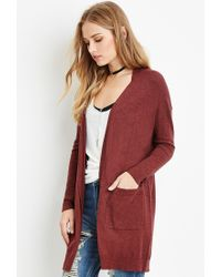 Forever 21 | Brown Classic Open-front Cardigan You've Been Added To The Waitlist | Lyst