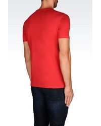 Emporio Armani - Red Jersey T-shirt for Men - Lyst