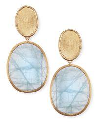 Marco Bicego | Metallic 18K Gold Aquamarine Drop Earrings | Lyst
