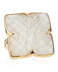 Stephen Dweck | Metallic Motherofpearl Clover Ring | Lyst