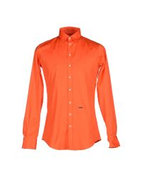 DSquared² - Orange Shirt for Men - Lyst