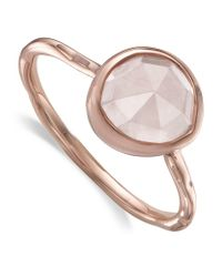Monica Vinader | Metallic Siren Rose Quartz Stack Ring | Lyst