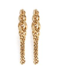 Ela Stone | Metallic Editha Graduated Chain Earrings | Lyst