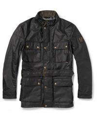 Belstaff | Black Roadmaster Waxed-Cotton Jacket for Men | Lyst
