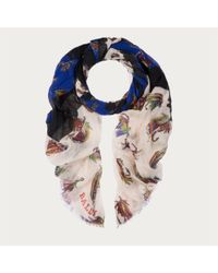 Bally | Multicolor Fly Fishing Silk Blend Scarf | Lyst