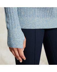 Trademark | Blue Melange Silk Turtleneck | Lyst